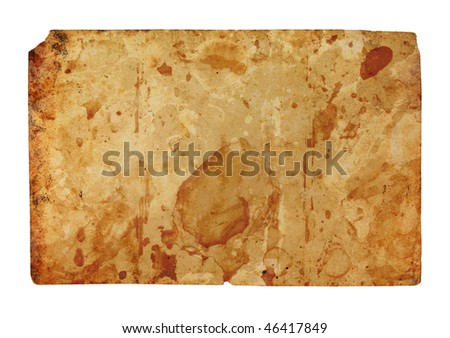 old paper Horizontal  isolated on a white background