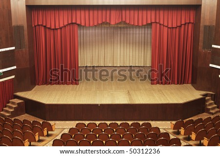 old provincial theater - stock photo