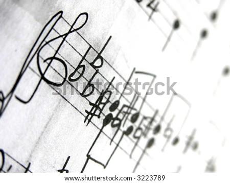 Old Sheet music Background - stock photo
