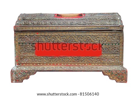 old wood box - stock photo