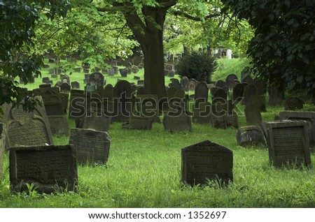 Oldes Jewish cementery in Europe Worms ,Germany(see more on gallery) - stock photo