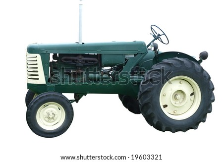1956 Oliver Tractor isolated with clipping path