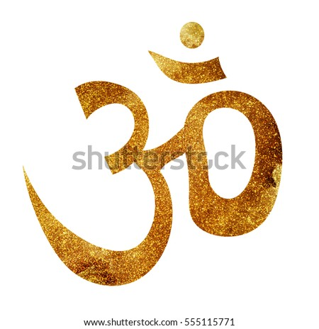 """Om"" sign icon isolated on white background"