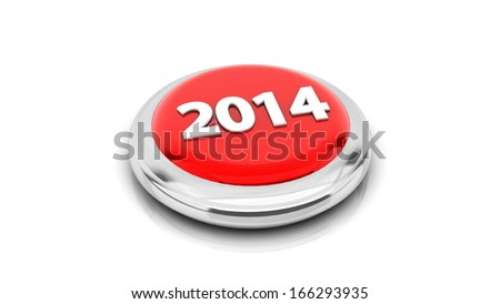 2014 on a bright red button