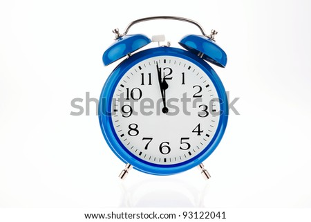 11:55 on a clock for decisions - stock photo