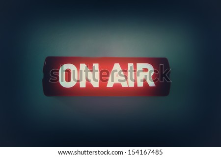 """ON AIR"" broadcast message - stock photo"