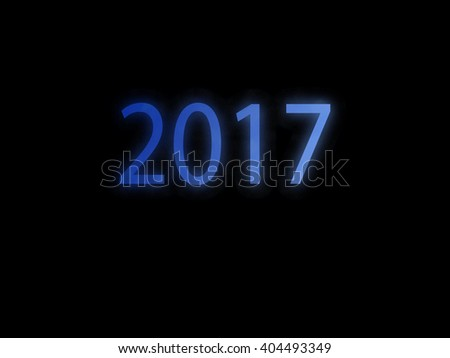 2017 on black background for design