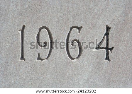 1964 on granite wall