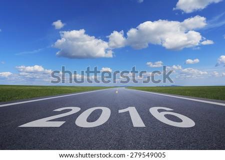 2016 on road - stock photo