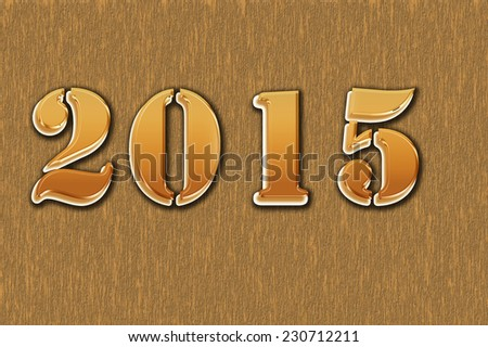2015 on the background