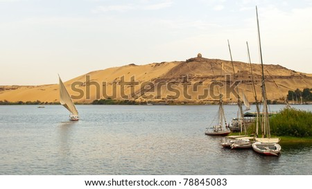 on the Nile - stock photo