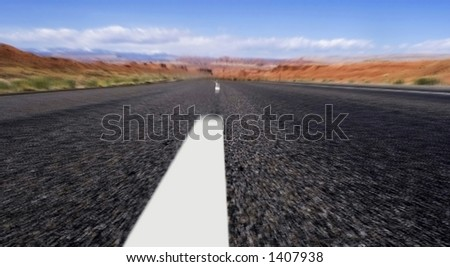 on the road to vegus, Motion Blur - stock photo