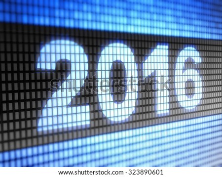 """2016"" on the screen"
