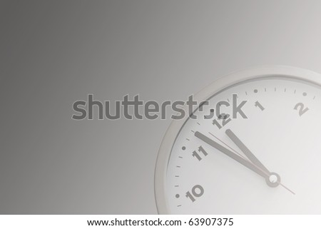 11:57 on the white wall clocks (gradient)