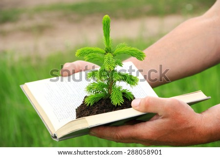 ?oncept, symbolizing the germs of the knowledge obtained from books. ?lso it may be eco concept  - stock photo