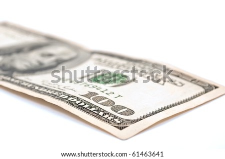 $100, One hundred dollar bill on white - stock photo