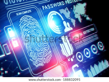 Online Security Technology background - stock photo