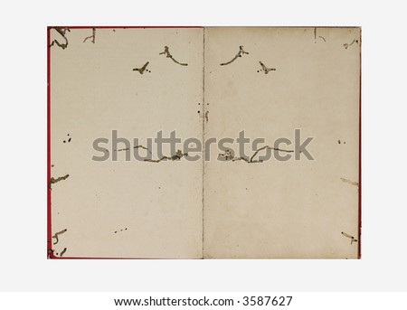 open book with worm decay - stock photo