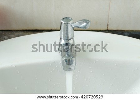Open the water tap