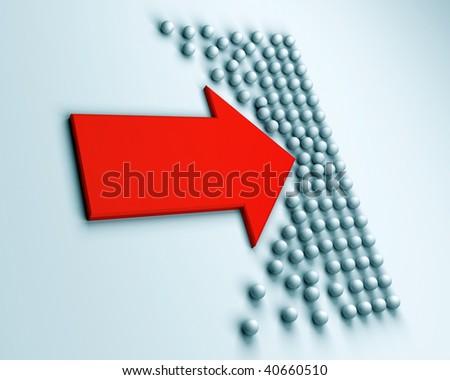 opposition - stock photo