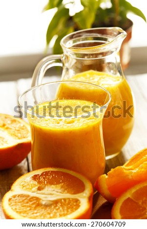 Orange juice-smoothies - stock photo
