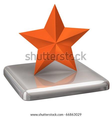Orange star - stock photo