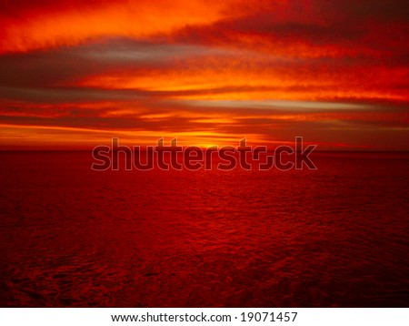 Orange sunrise - stock photo