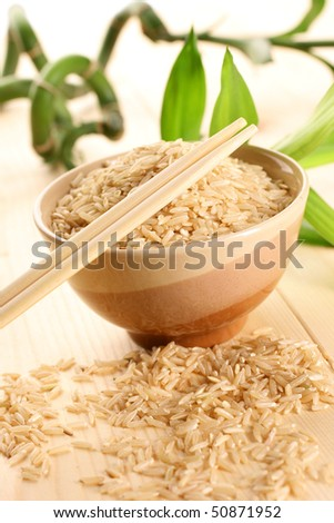 Organic rice - stock photo
