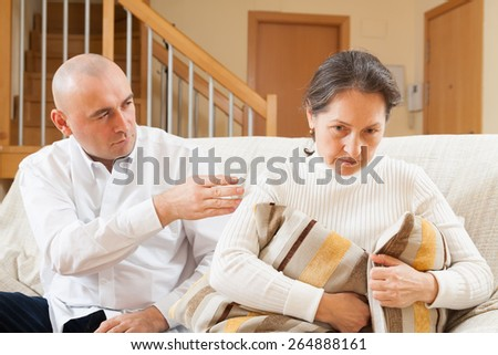 Ð¡ouple having problems at home - stock photo