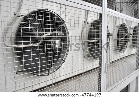 Outdoor Unit of Air Conditioner - stock photo