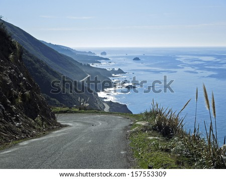 Pacific Coastal Road , California        - stock photo