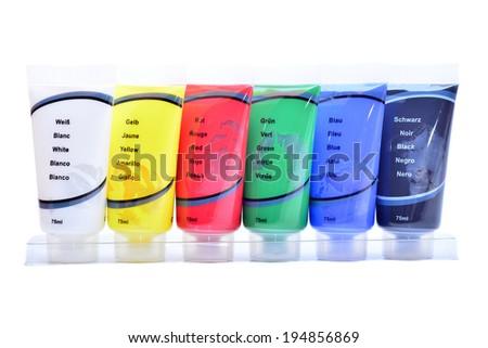 paint tubes  - stock photo