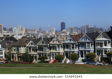 """Painted Ladies"" near Alamo Square, San Francisco, California"