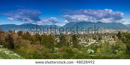 Panorama of Vancouver City
