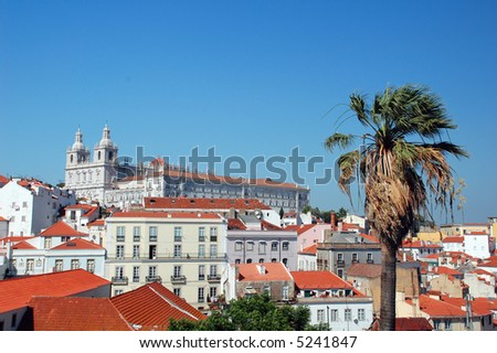 Panorama view from Oporto City in Lisboa - stock photo