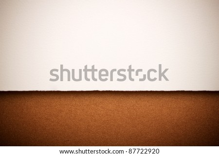 Paper and gold background with space for tex - stock photo