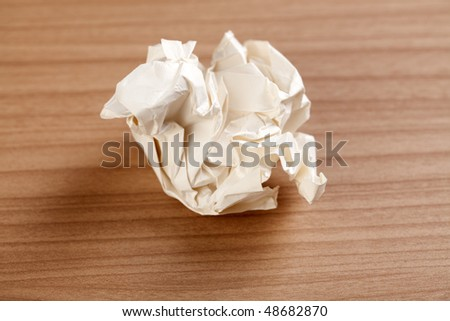 paper ball on table - stock photo
