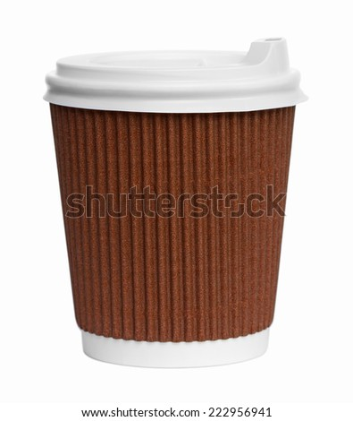 Paper Coffe Cup on white - stock photo