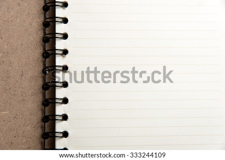 paper of notebook