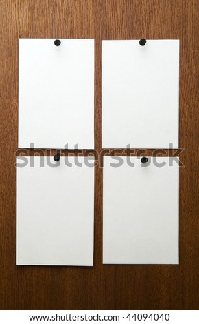 4 papers - stock photo