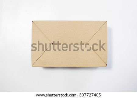 papper box in the isolated white background