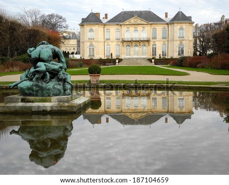 Paris, 20 December 2013-tourist spots of Paris (France)          Rodin