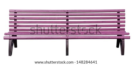 park bench . Isolated over white background . - stock photo