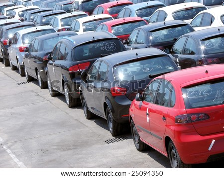 parking and transportation of new cars from factory