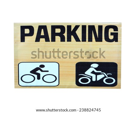 Parking label  - stock photo