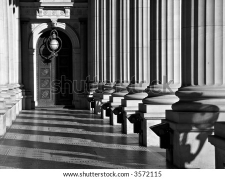 Parliament Buildings, Victoria in Black and White