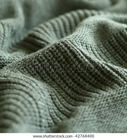part of knitted wool - stock photo