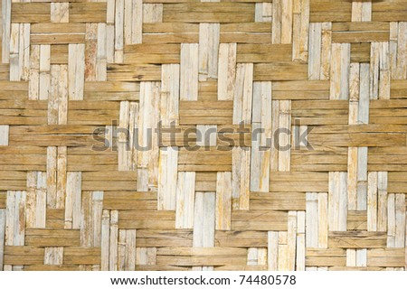 pattern of bamboo panel made from pieces of bamboo - stock photo