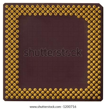 486 PC CPU macro - very high resolution - stock photo