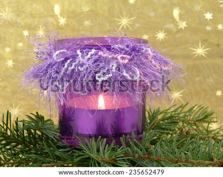 peaceful advent mood - stock photo